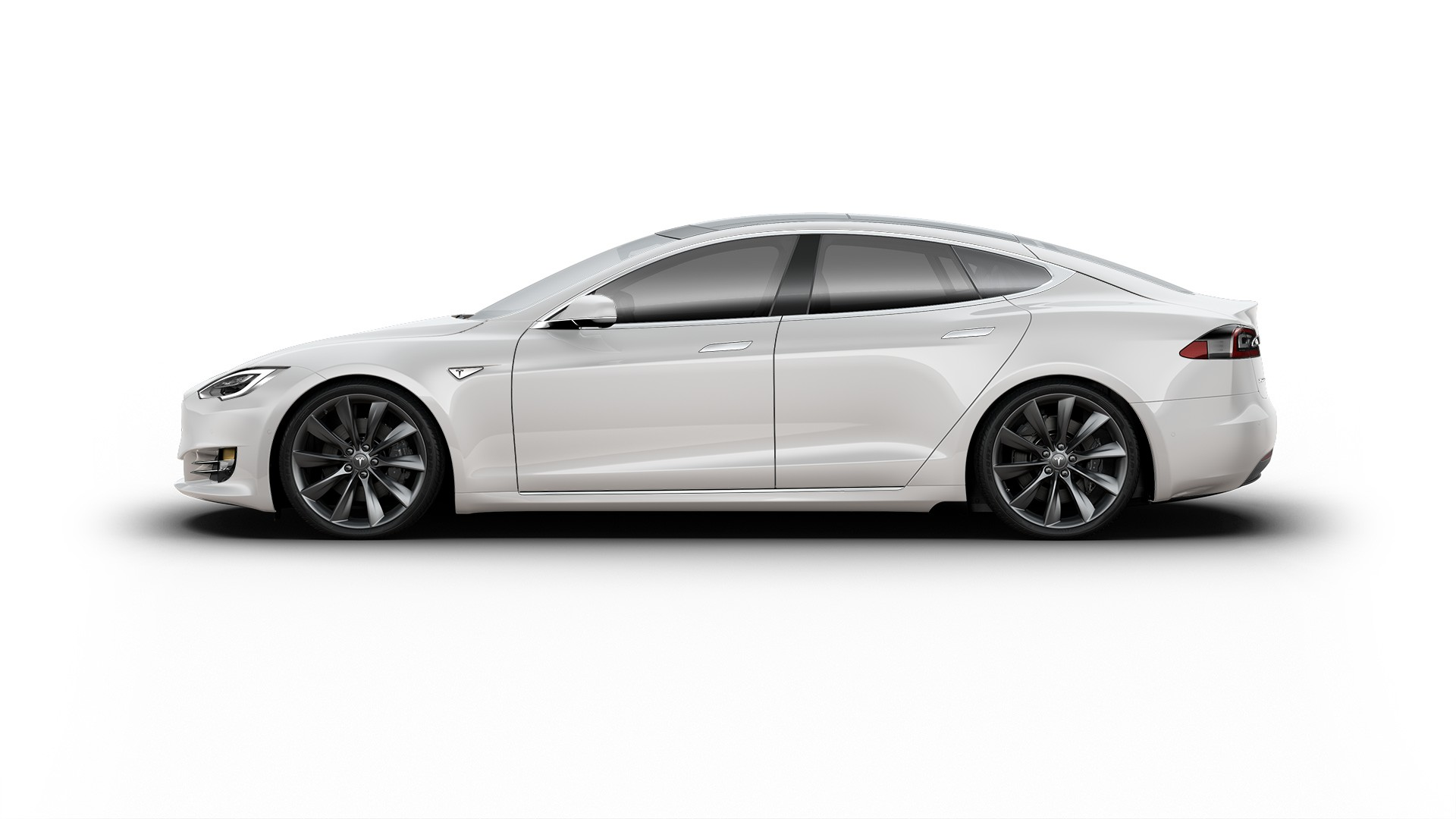 Tesla rent white s 90d
